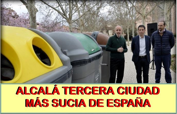 Alcalá de Henares, la tercera ciudad más sucia de España según un estudio de la OCU.