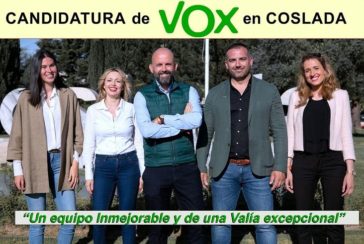 José Manuel Bleda Morales será el candidato de VOX a la Alcaldía de Coslada.