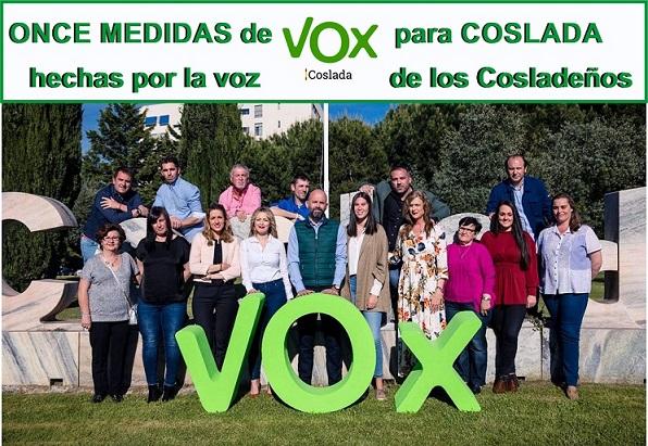 El Candidato VOX  a la Alcaldía, José Bleda, presenta Once medidas de VOX para Coslada, hechas con la Voz de los Cosladeños.