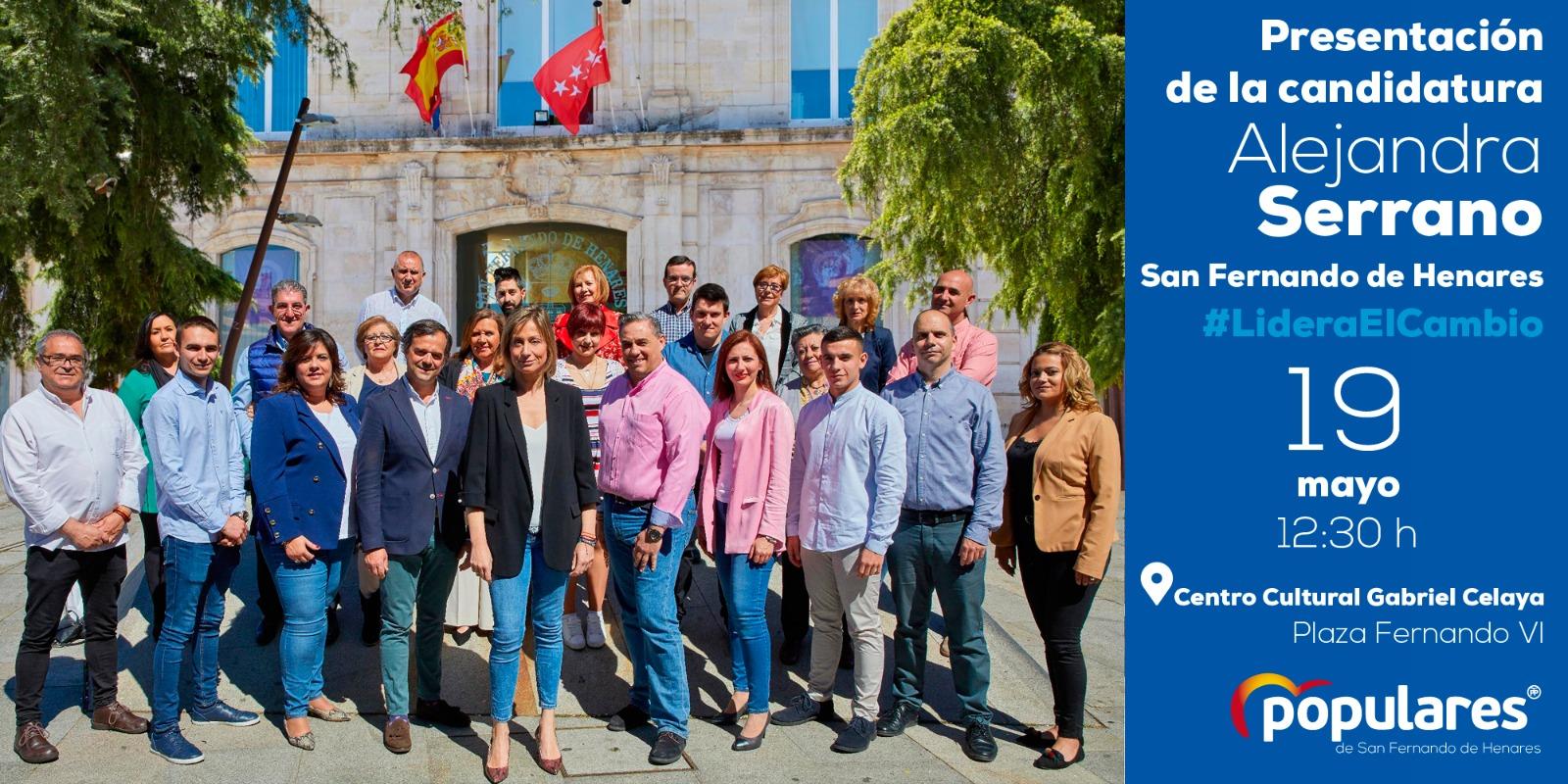 El PP de San Fernando de Henares, presenta su candidatura a las elecciones Municipales del 26-M
