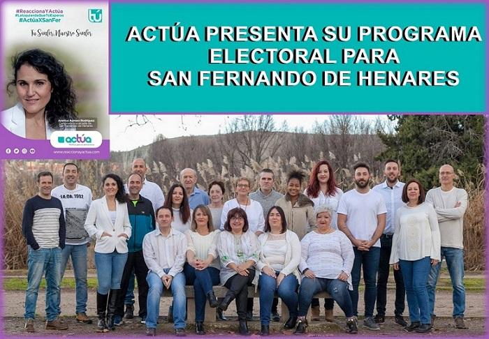Actúa presentará el próximo Jueves 16 de Mayo su programa electoral en el Centro Marcelino Camacho.