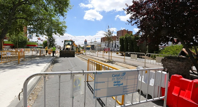 Coslada: Cortes en la calle Colombia por obras que durarán tres semanas.