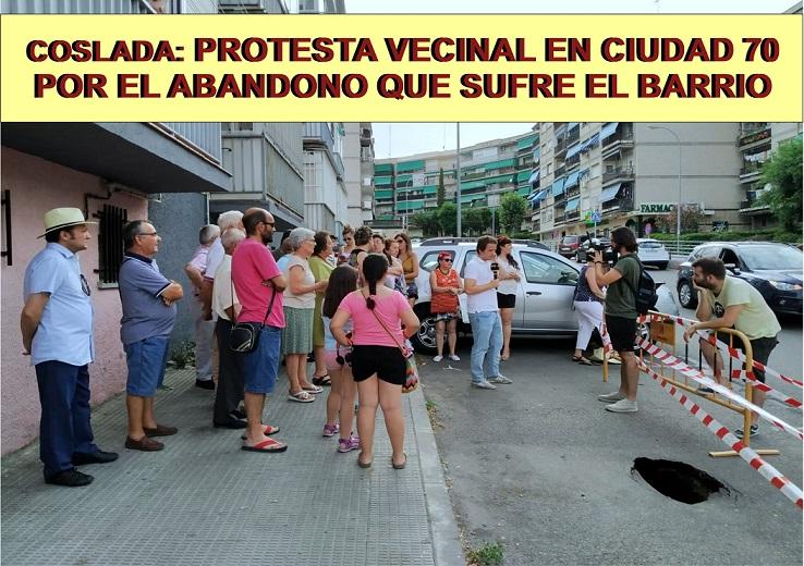 Coslada.- El PP denuncia el abandono del barrio C-70 y la reducción del Horario del Punto Limpio en verano.