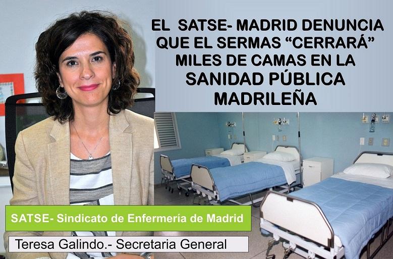 El Sermas cerrará miles de camas hospitalarias  en la Comunidad de Madrid.