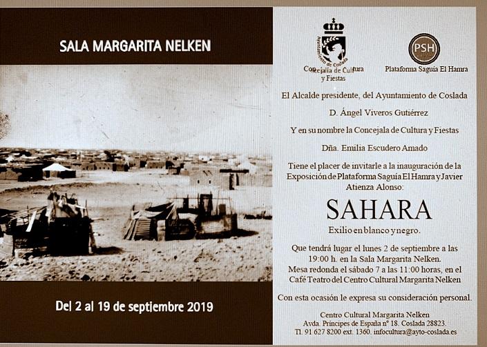 El lunes 2 de Septiembre a las 19:00h se inaugura la exposición 'Sahara. Exilio en blanco y negro' en el Margarita Nelken de Coslada.