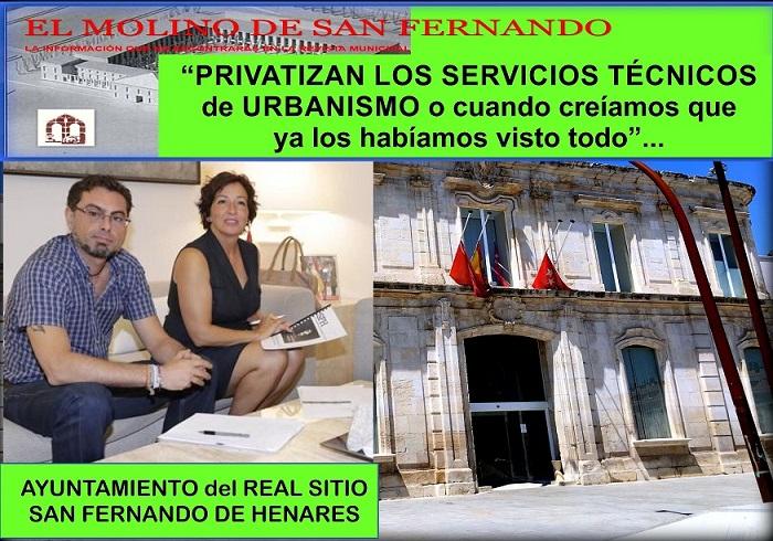 Ayto. de San Fernando de Hres.- Asc. C.C. El Molino: «Privatizan los servicios Técnicos de Urbanismo»