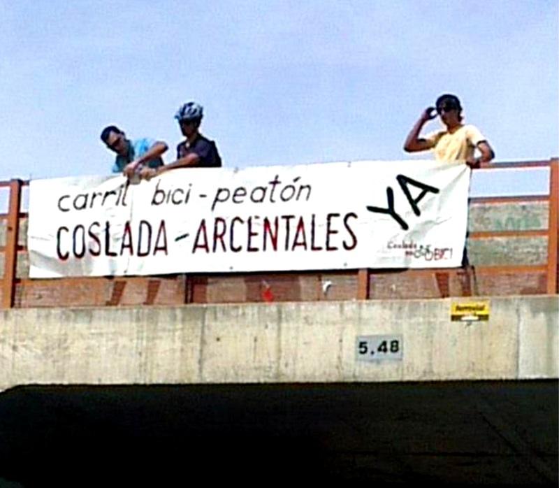 """VOX-coslada apoya al movimiento vecinal """" Coslada en Bici""""."""