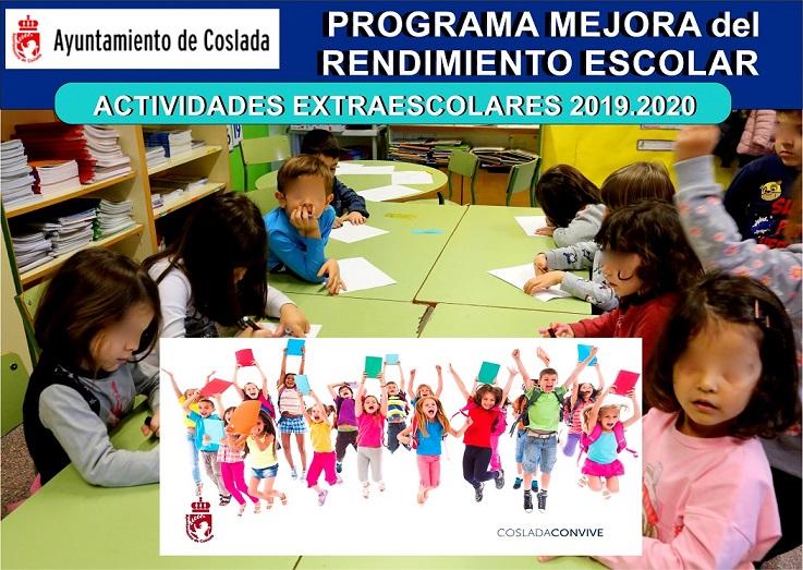 El Ayuntamiento de Coslada pone en marcha, su programa de Mejora del Rendimiento Escolar y ofrece actividades extraescolares para el curso 2019/20
