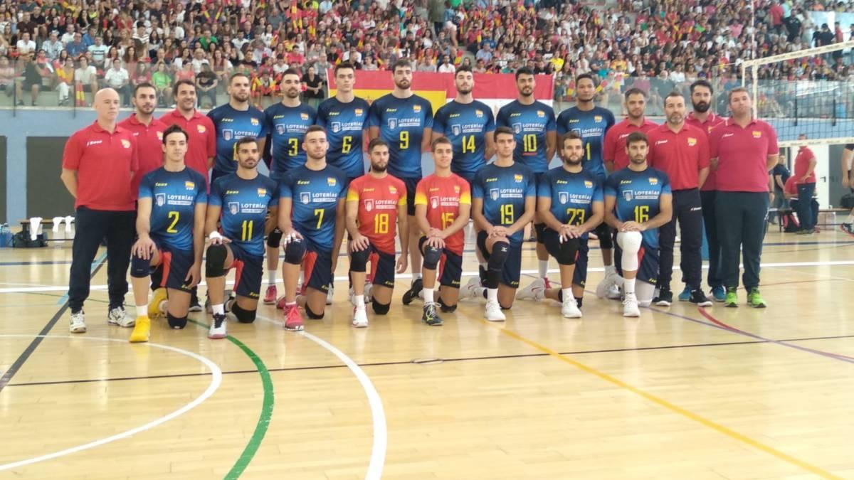 Coslada.- España derrota a Egipto en la preparación para el Europeo. Se jugó ayer domingo en el Pabellón  El Plantío .