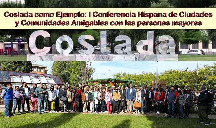 El Alcalde de Coslada y otros representantes municipales han recibido a los participantes en la I Conferencia Hispana de Ciudades y Comunidades Amigables con las Personas Mayores.
