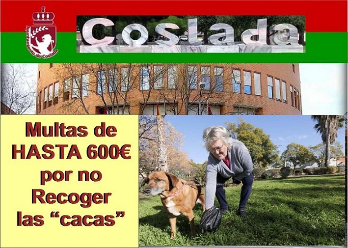 Coslada.- Multa de hasta 600€ por no recoger las cacas de los animales o llevarlos sueltos.