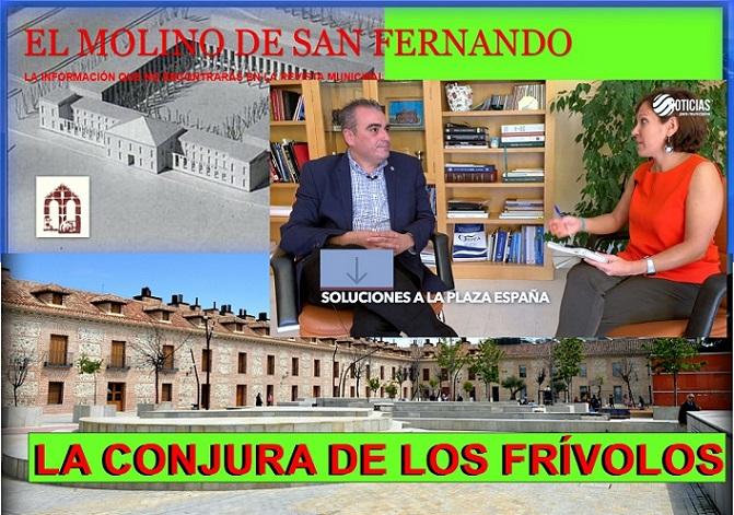 Opinión.- El Molino critíca que el Alcalde Corpa quiera pedir permiso al concursal para arreglar los desperfectos de Plz. España