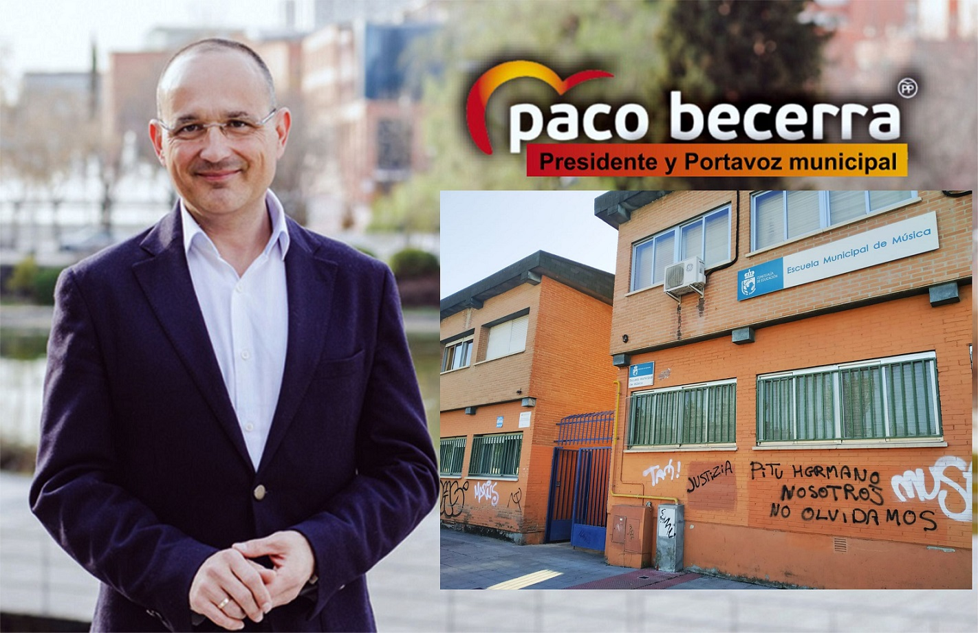 El PP de Coslada insta al gobierno municipal a solucionar el problema de los Graffitis en las fachadas de los edificios públicos.
