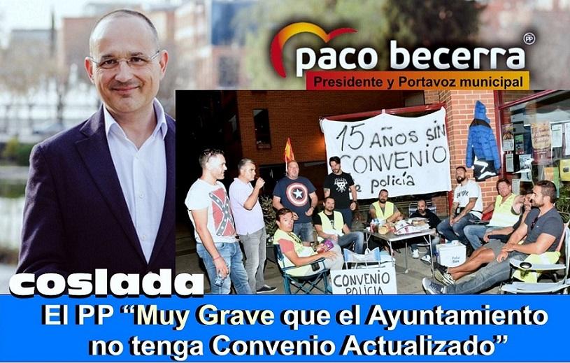 El PP Considera de extrema gravedad que el Ayuntamiento de Coslada no tenga un convenio colectivo actualizado.