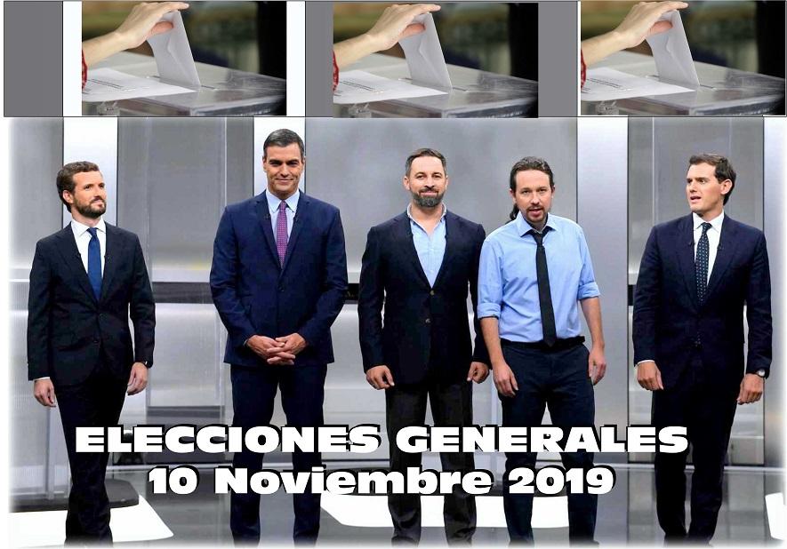 10 de Noviembre 2019. Elecciones Generales.