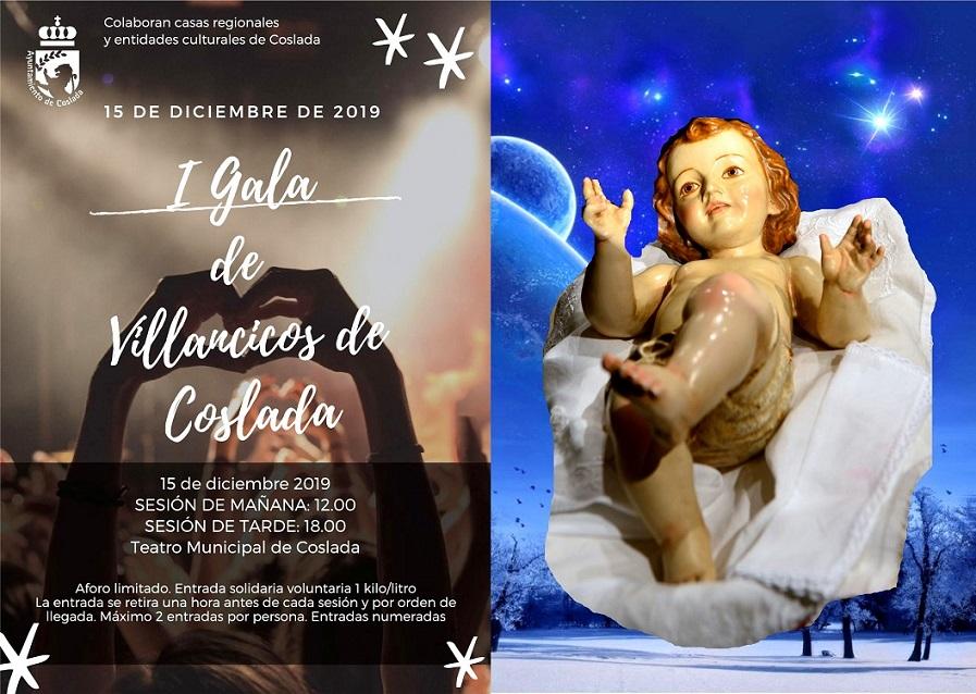 Este domingo se celebra la I Gala de Villancicos de Coslada en el Teatro Municipal.