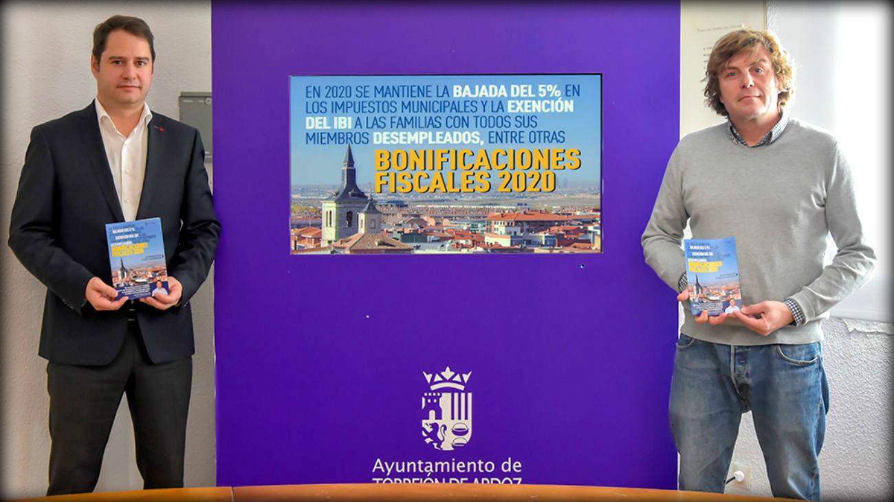 El ayuntamiento de Torrejón mantiene la bajada del 5% en los impuestos municipales para este año 2020.