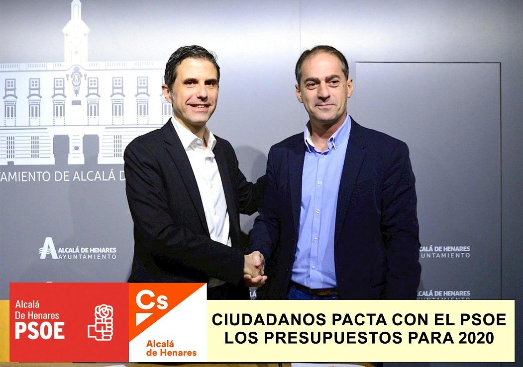 Ciudadanos pacta con el PSOE los presupuestos municipales para 2020.