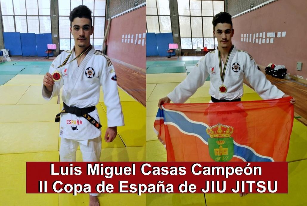 Lo ha conseguido: Luismi Casas, campeón de la II Copa de España de JIU JITSU .