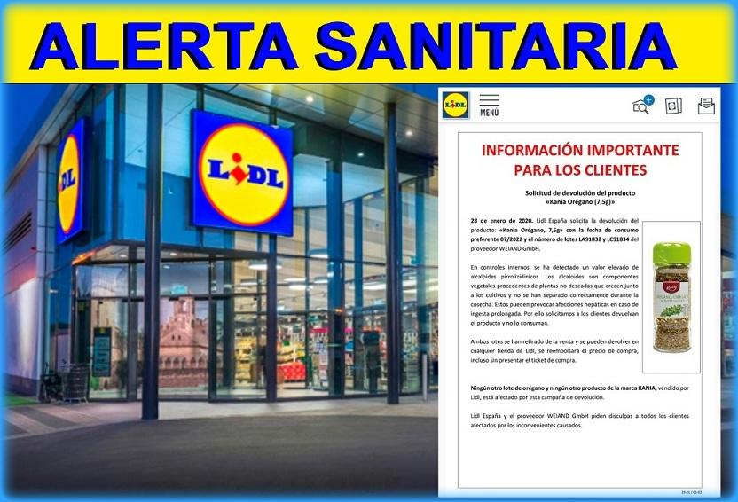 La Cadena Lidl alerta de productos tóxicos en un condimento y ordena su retirada urgente.