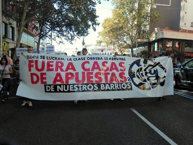 Protesta vecinal contra las casas de apuestas
