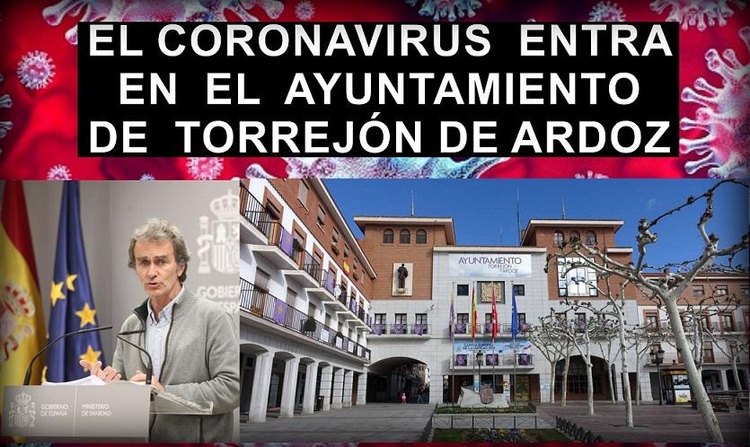El Coronavirus llega al Ayuntamiento de Torrejón de Ardoz.
