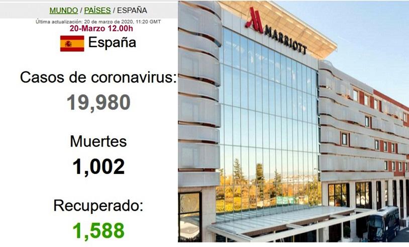 El Hotel Marriott Auditorium acogerá a pacientes del corredor del Henares afectados por coronvirus.