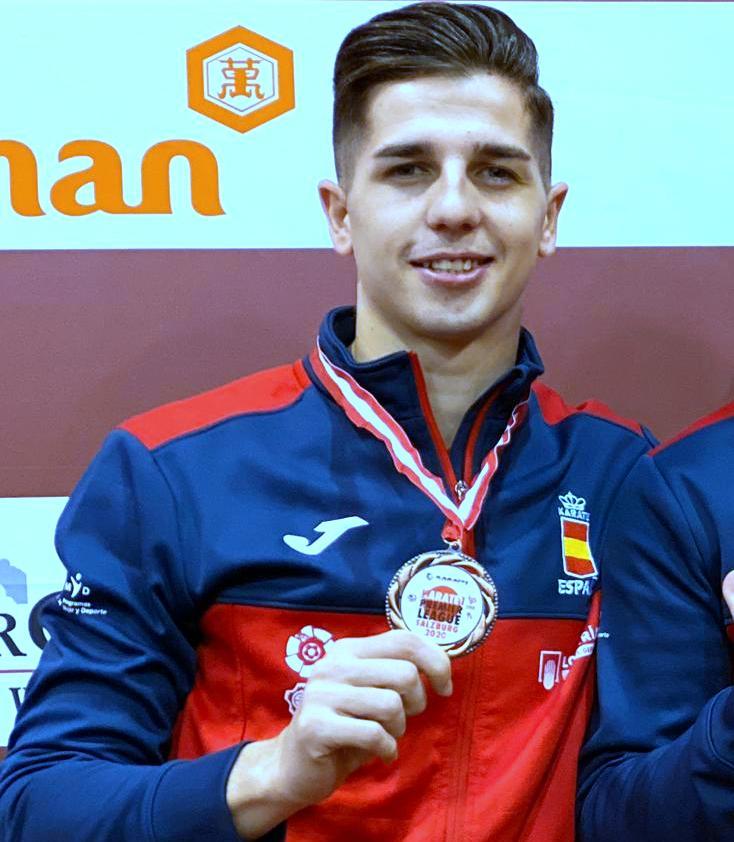 El karateca, Sergio Galán, medalla de bronce en Salzburgo.