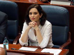 Segunda jornada del debate de investidura de Isabel Díaz Ayuso