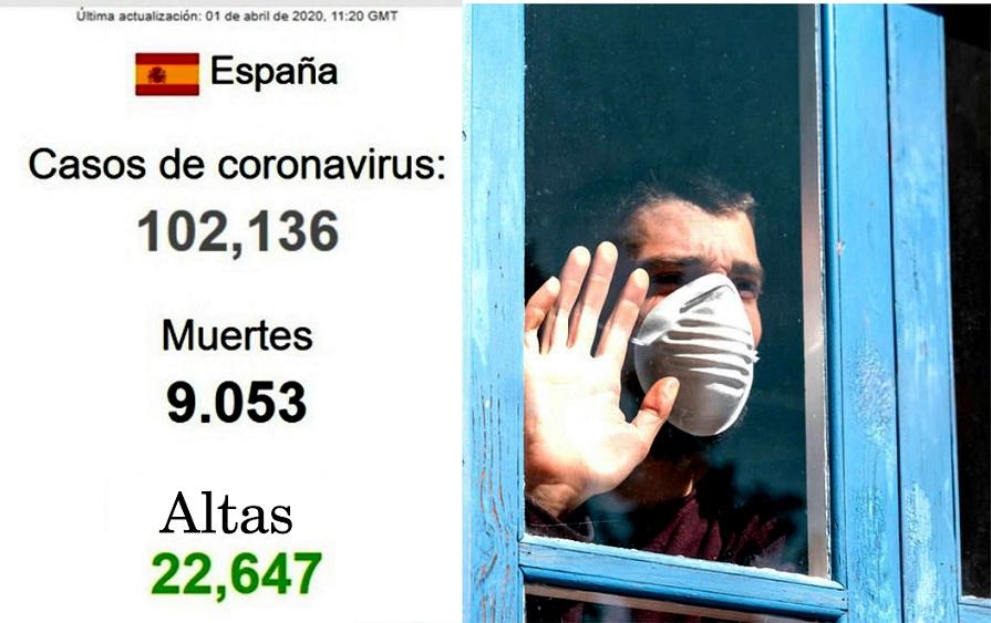 España tiene ya 102.136 casos de contagios por Covid-19, DETECTADOS.