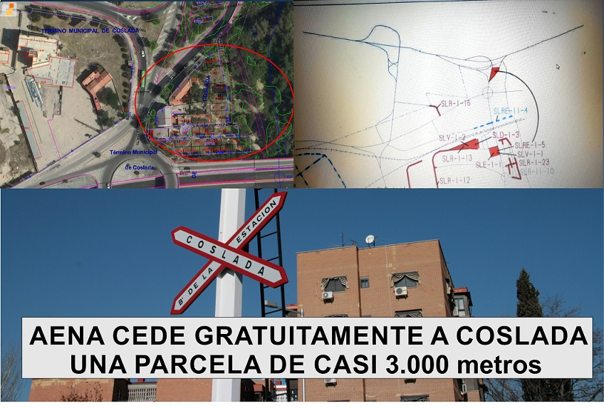 Coslada logra la cesión gratuita y definitiva de cerca de 3.000 metros cuadrados por parte de AENA, en el Barrio de la Estación.