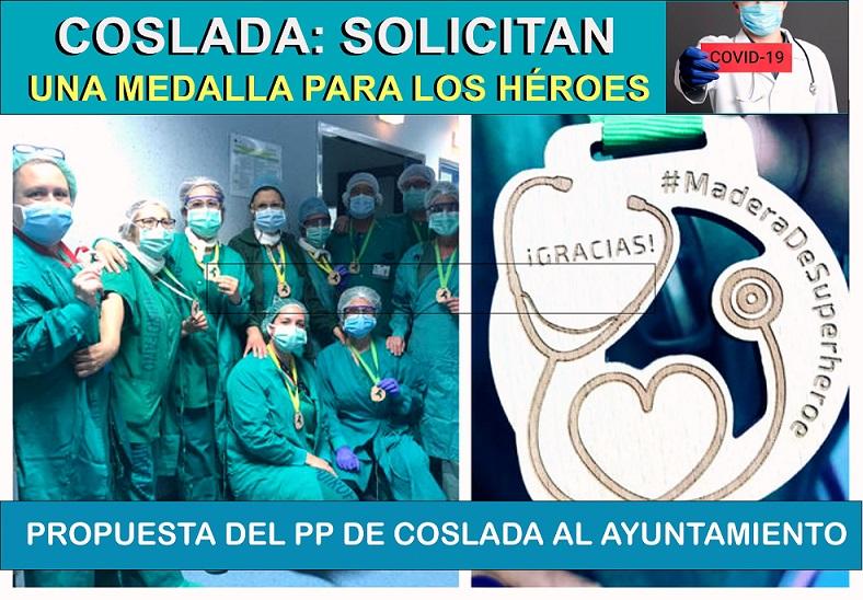 El PP de Coslada propone otorgar la Medalla de la Protección Ciudadana a todos los Héroes del Covid.