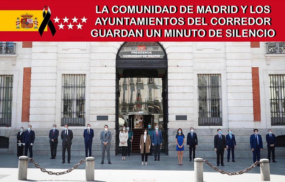 Los Ayuntamientos del Corredor han guardado un minuto de Silencio, al que Hoy SÍ, se han sumado los alcaldes socialistas, en memoria de los fallecidos por el COVID-19.