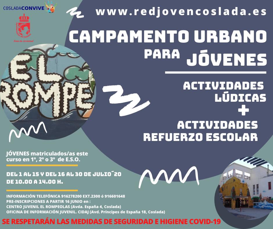 Coslada prepara un campamento urbano para el próximo mes de julio.