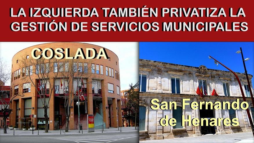La Izquierda cuando gobierna también PRIVATIZA la gestión de los servicios que recibe la ciudadanía.
