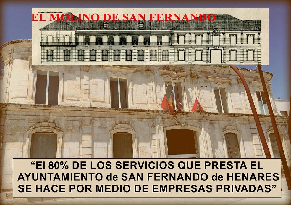 """El Molino: """"El 80 % de los servicios que presta el Ayuntamiento de San Fernando, se hace por medio de empresas privadas"""""""