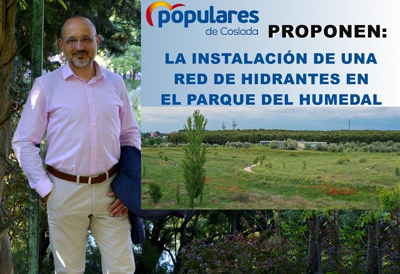 El PP de Coslada propone la instalación de una Red de Hidrantes en el Parque del Humedal.