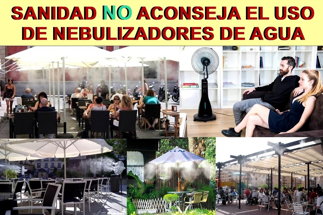 Sanidad NO aconseja la utilización de sistemas de Nebulización de agua en locales y terrazas, para evitar la propagación del COVID-19.
