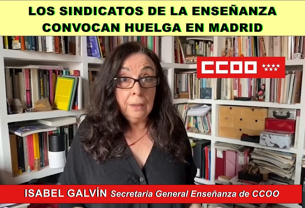 Ante la incertidumbre del inicio del curso escolar los sindicatos de la enseñanza convocan huelga SÓLO en Madrid.