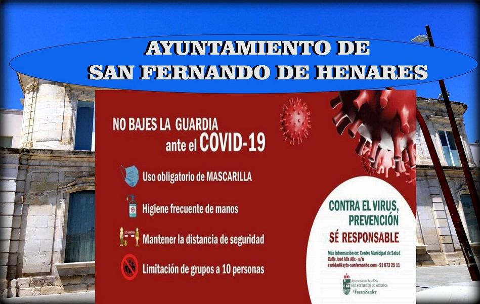 San Fernando de Henares pone en marcha nuevas medidas sanitarias para frenar la expansión del COVID-19 en el municipio..