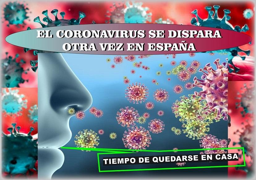 El Coronavirus se dispara en España| Sanidad registra 19.382 nuevos infectados.