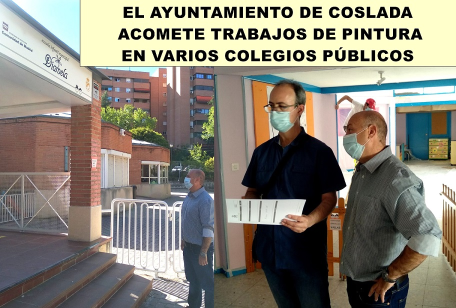 El Gobierno municipal de Coslada acomete trabajos de pintura en diferentes colegios, pero desde la oposición (PP) cuestionan que puedan estar terminados a tiempo.