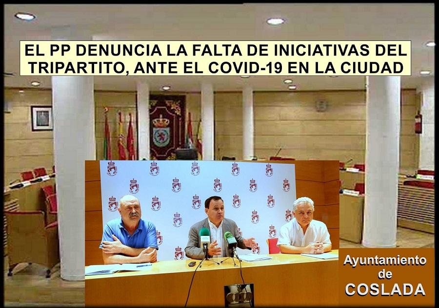 El PP de Coslada denuncia falta de iniciativas del Gobierno Municipal para hacer frente a las consecuencias del Covid en la Ciudad.