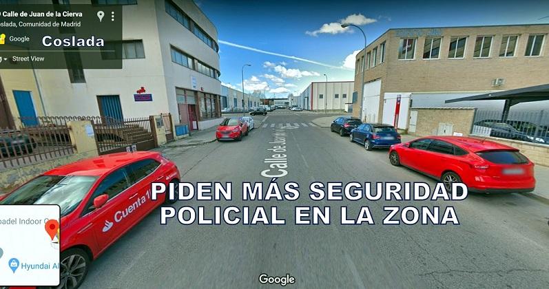 El PP de Coslada pide a FRANCO- delegado del Gobierno en Madrid- que incremente la seguridad en algunas zonas del municipio.
