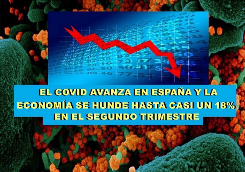 El coronavirus avanza en toda España y el PIB se hunde un 17,8% en el segundo trimestre.