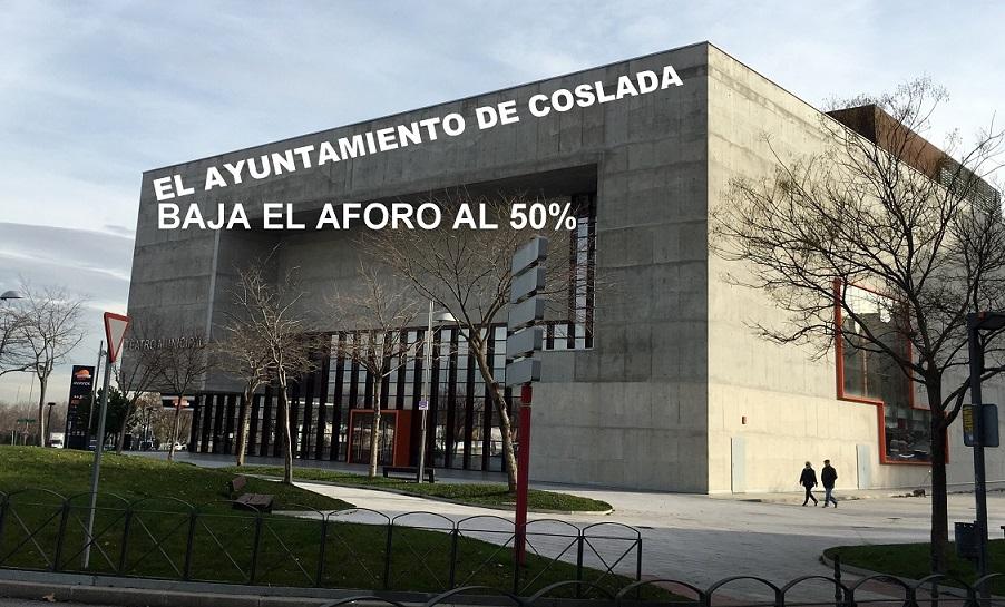 El Ayuntamiento de Coslada reduce al 50% el aforo a sus actividades de Cultura con más restricciones que las marcadas por la Comunidad.