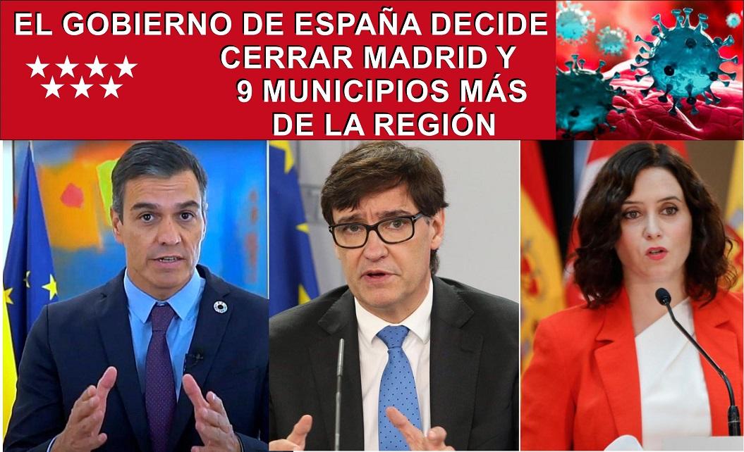 Guía de las restricciones que Pedro Sánchez impondrá a los madrileños.