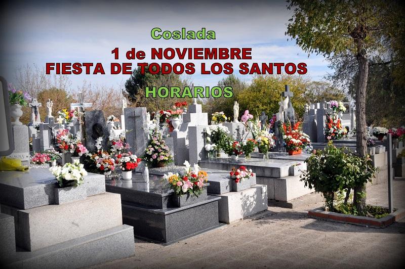 Fiesta de Todos los Santos: el Cementerio Municipal de Coslada amplía su horario de apertura.