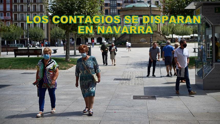 Los contagios se desbocan en Navarra: 811 por cada 100.000 habitantes. La Comunidad Foral casi ya duplica a Madrid, que desciende hasta a 450.