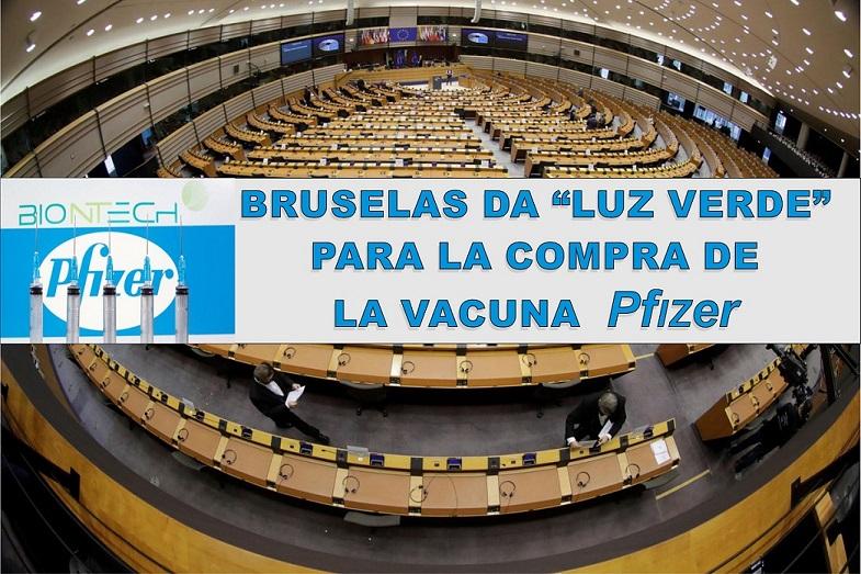 Covid-19: Bruselas da luz verde al acuerdo con Pfizer para la compra de su vacuna.